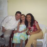 Johnny, Laura (mi sobrina) y Diana