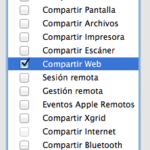 Preferencias de Sistema - Compartir Mac Lion